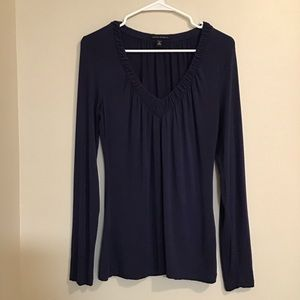 Banana Republic V Neck Long Sleeve Top
